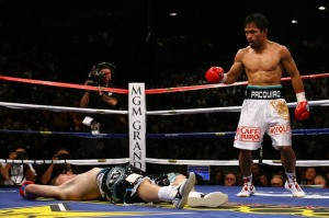 The effect of Pacquiao's left hook is devastating