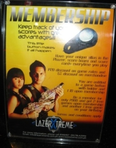 Lazer Xtreme is even open for membership.