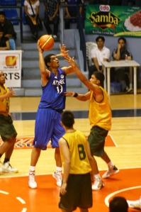 When he wasn't complaining to the refs, Rabeh was scoring at the low post