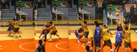 Eric Salamat bullied his way in the low post for two crucial points plus 1.