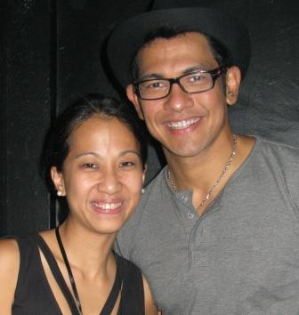 Photo op backstage, Janice with the other Gary V