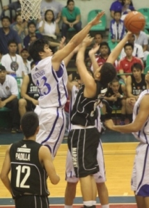 The Maroons challenged Ateneo's interior defense.