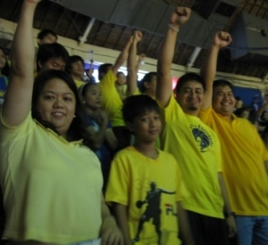 We were all smiles while singing the Alma Mater song. Whew!!! Tumaaas BP ko. Watta game!!!