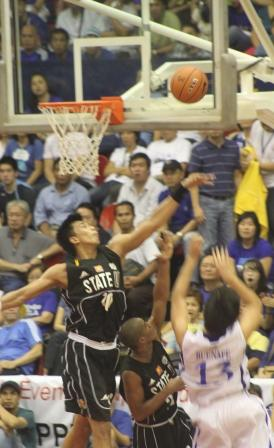 Magi Sison swatted away the Eagles' bid for a sweep.