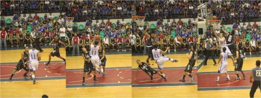 Salamat and Long connected early for a lay up, and ADMU looked in control.