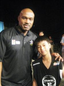 Coby with Tim Hardaway