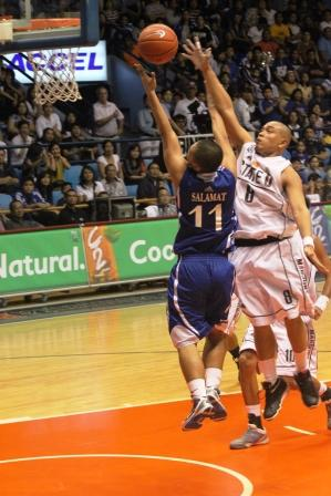 Eric Salamat scored a career high 23 points mostly on drives like these