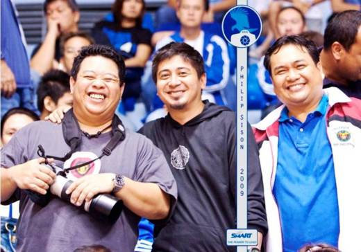 Nelson, Me, and Reggie at the Arena. (Photo taken by Philip Sison from Fabilioh.com)